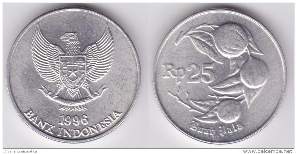 INDONESIA    25   Rupias 1.996  Aluminio   KM#55   SC/UNC    T-DL-11.646 - Indonesia