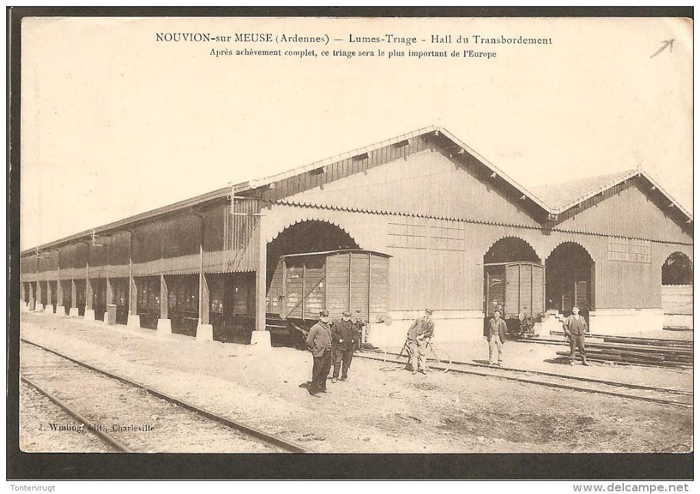 08Nouvion-sur-Meuse.Lumes-Tirage-Hall Du Transbordement. Cachet K.D.Feld-postexped - France