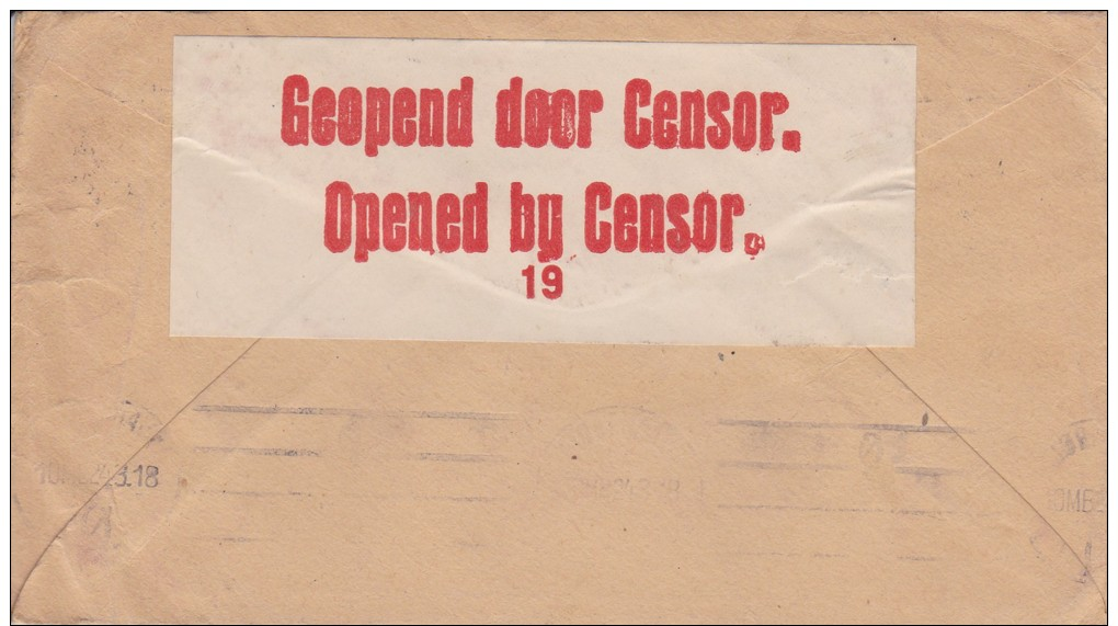 South Africa; Censored Cover To Denmark 1918 - África Del Sur (...-1961)