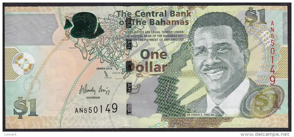Bahama 1 Dollar 2015 Pnew UNC - Bahamas