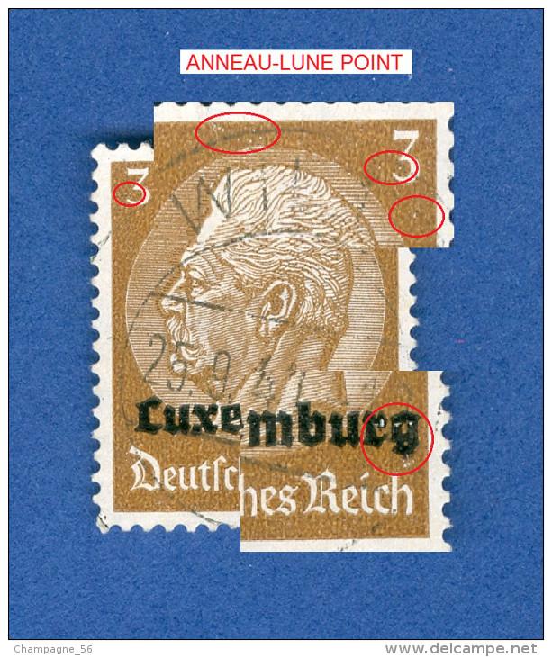 LUXEMBOURG ANNEE 1940 N° 1 HINDENBURG SURCHARGES  OBLITERE 3 SCANNE DESCRIPTION - 1940-1944 Ocupación Alemana
