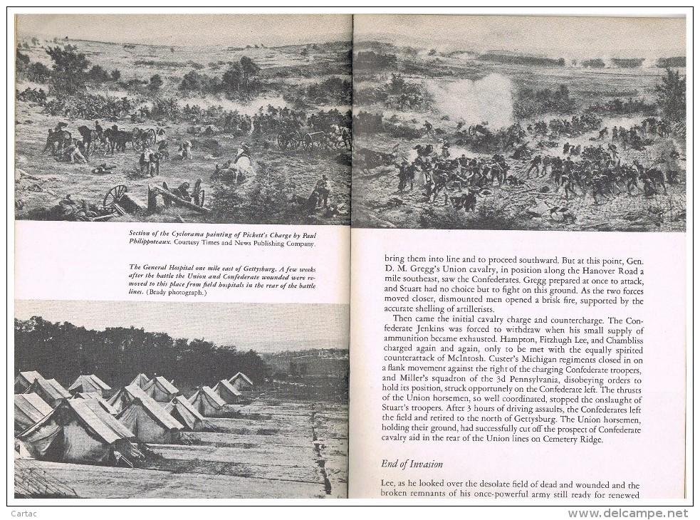U.S.A. PENNSYLVANIE. BOOK BATTLE OF GETTSBURG 1863 NATIONAL MILITARY PARK - Livres, BD, Revues
