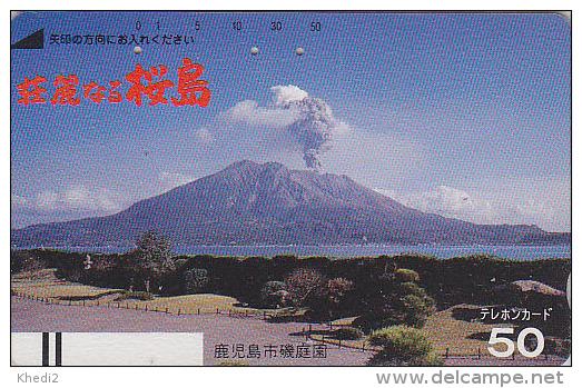 Télécarte Ancienne Japon / 110-6333 - VOLCAN - VULCAN Japan Front Bar Phonecard / A - VULKAN Balken TK - VOLCANO - Volcanos