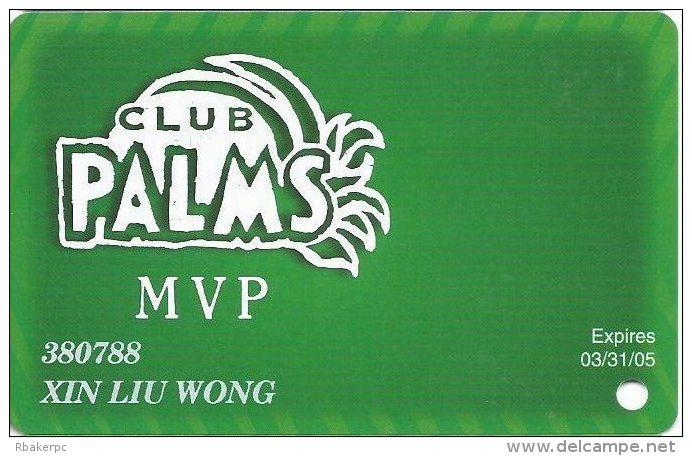 Palms Casino Las Vegas NV - PRINTED MVP Slot Card - Exp 03/31/05 - Casino Cards