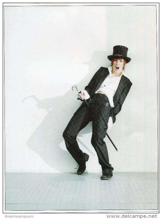 POSTER PHOTO DE ROBIN DESIGN HENRY NEU MYLENE FARMER  NOIR ET BLANC TBE 29 X 21.5 CM Chanteuse Chanteur  Artiste - Plakate & Poster