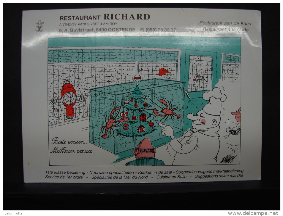 CP. 160. Restaurant RICHARD à Oostende - Hotels & Restaurants