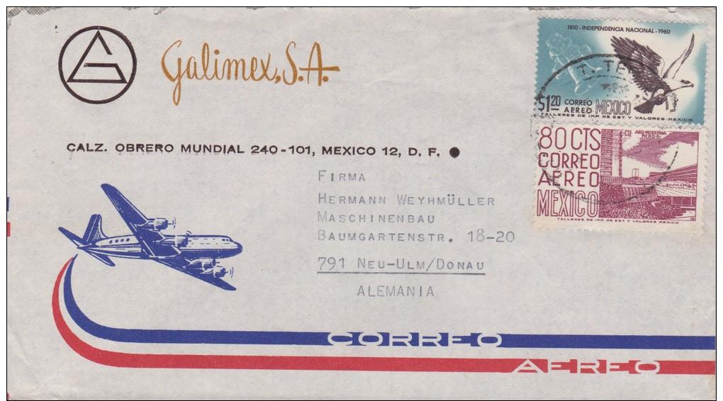 Mexico; Cover To Germany 1963 - México