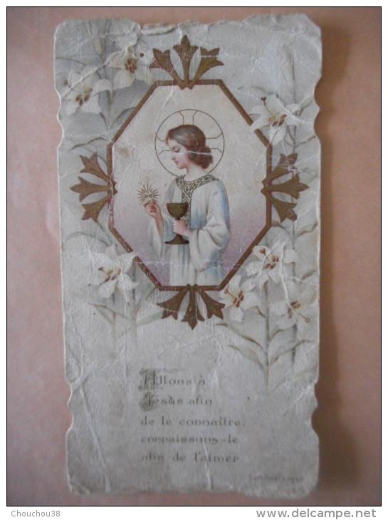 """IMAGE Pieuse Ancienne COMMUNION """"Robert BENARD Eglise De PAVILLY - 1909 (Dom GUERANGER) - Religion & Esotericism"""