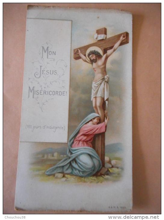 """IMAGE Pieuse Ancienne """"100 JOURS D'INDULGENCE"""" -Prière Au Dos- A & M 1899 - Religion & Esotericism"""