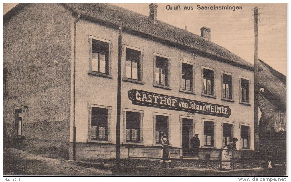 57-SARREINSMING-RESTAURANT WEIMER-GROS PLAN-BELLE CARTE - France