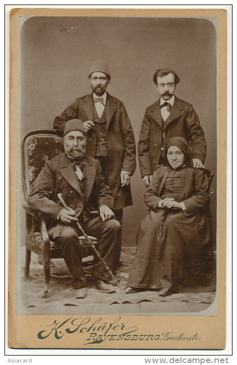 Real Photo On Cardboard Armenians ? Photo K. Schafer Ravensburg Germany Size 11 By 16,50 - Armenië