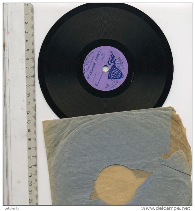 """78?T DISQUE THE BELL (15 Cm) """"ARLEQUIN DANS SA BOUTIQUE""""  &  """"CADET ROUSSEL"""" CHANSON POPULAIRE - 78 Rpm - Schellackplatten"""