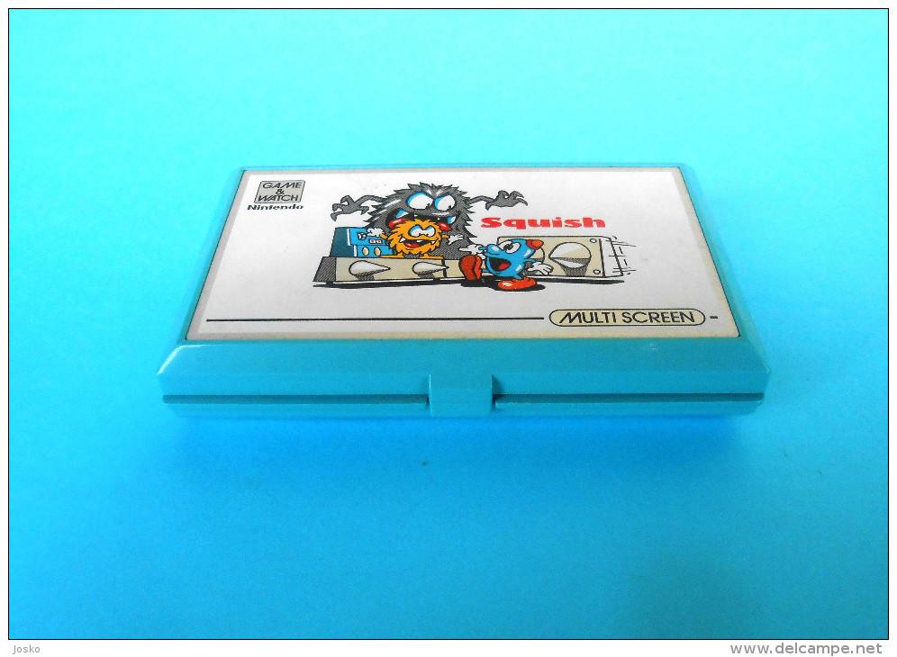 NINTENDO Squish - Game & Watch - Multi Screen ** MADE IN JAPAN ** Original Vintage RRR - Consoles