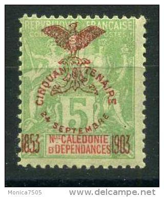 NOUVELLE-CALEDONIE ( POSTE ) : Y&T N°  71  TIMBRE  NEUF  AVEC  TRACE  DE  CHARNIERE , A  VOIR . - Neukaledonien