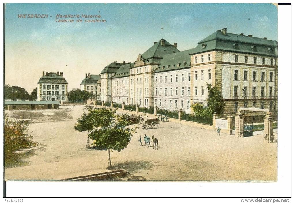 CPA  WIESBADEN, Kavalerie Kaserne  2038 - Wiesbaden