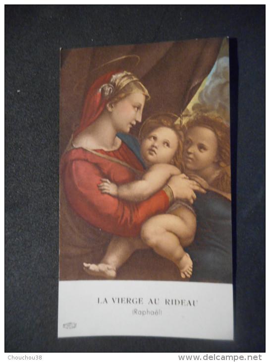 """IMAGE COMMUNION La Vierge Au Rideau - Raphaël """"Alain GARNIER Eglise Notre-Dame VERSAILLES - 1956 - Fiestas & Eventos"""