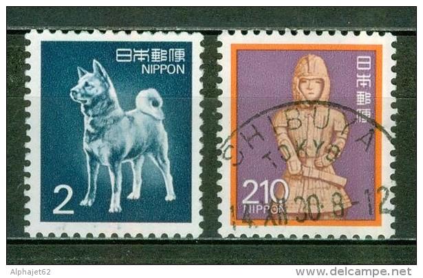 Faune, Animaux - Chien D'Akita - JAPON - Dieux Et Déesses, Haniva, Relique Japonaise - 1989 - Oblitérés