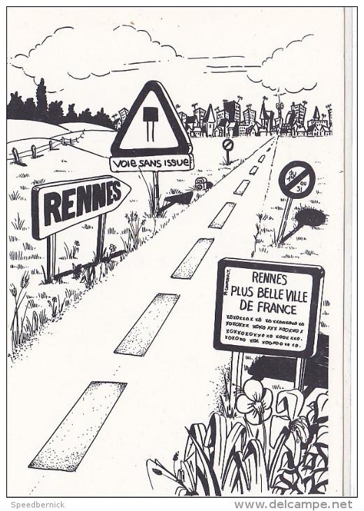 25645 -RENNES 35 France -capitale Meandres Circulation -commercants Centre Ville -1982 Voiture Dessin - Rennes