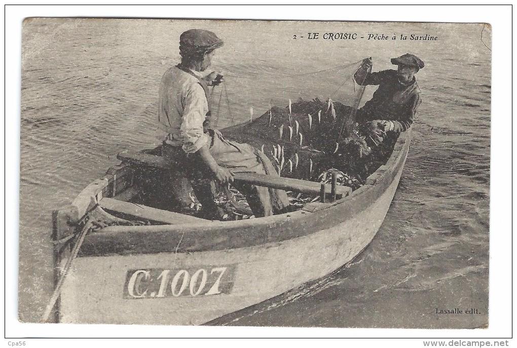 LE CROISIC - Beau Plan PÊCHE à La SARDINE - Lassalle édit. (1909) - Le Croisic