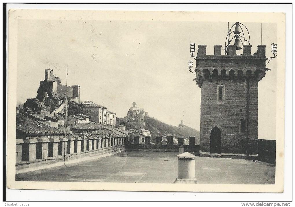 SAINT-MARIN - 1930 - CARTE POSTALE Pour WINTERTHUR (SUISSE) - Lettres & Documents