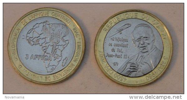 Congo (Brazzaville) 4500 CFA 2007 Bimetal Pape - Congo (République Démocratique 1998)