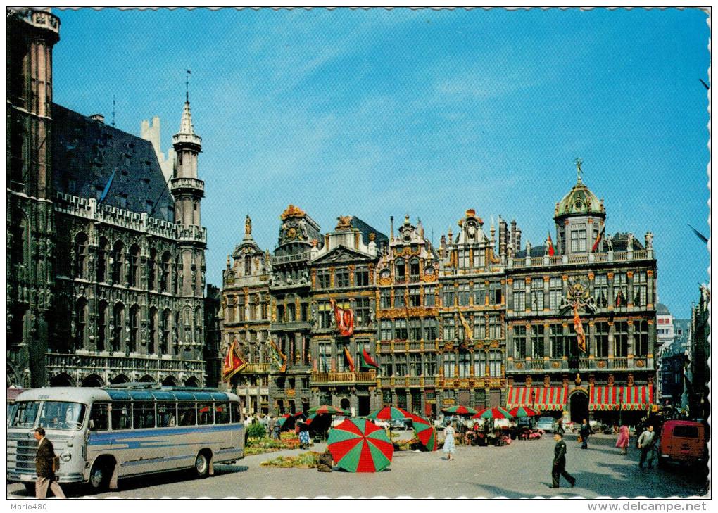 BRUXELLES   UN  COIN  DE  LA  GRAND' PLACE    (VIAGGIATA) - Belgio