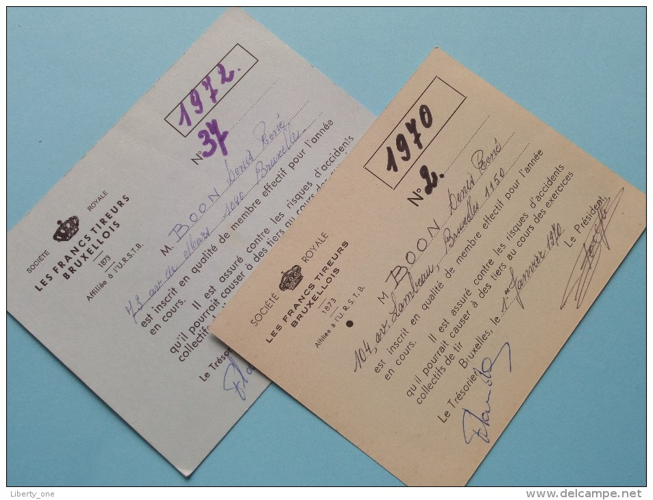 U.R.S.T.B. - K.V.B.S.V. Licence / Vergunning / Lidkaarten Etc... LOT / Anno 1964/65/66 Etc.... ( Zie Foto´s Details) ! - Organizaciones