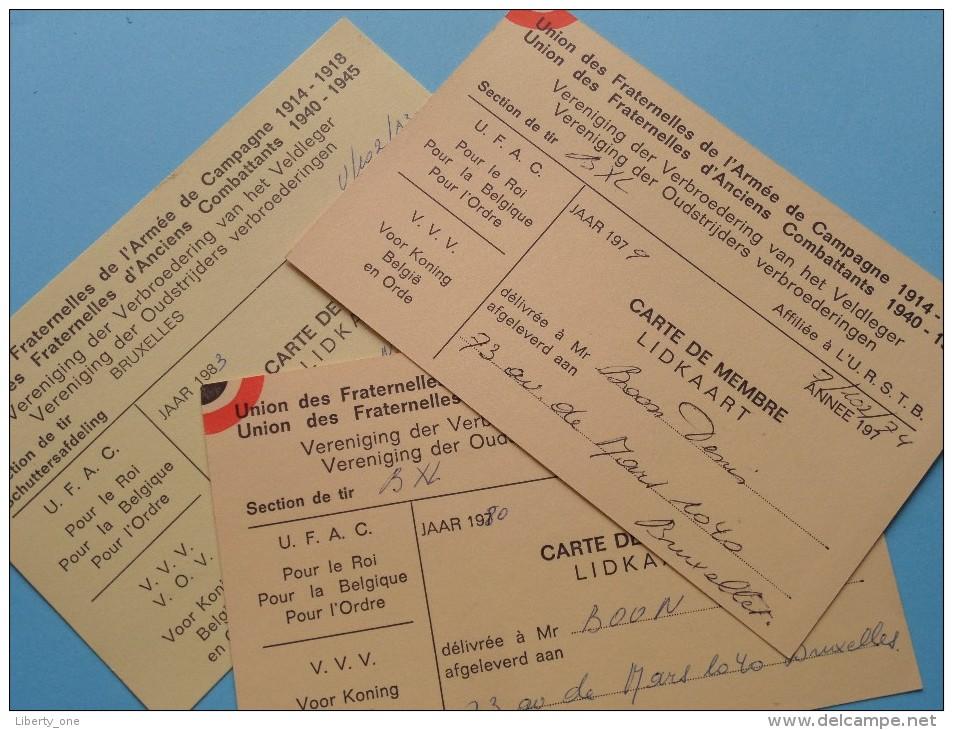 U.R.S.T.B. - K.V.B.S.V. Licence / Vergunning / Lidkaarten Etc... LOT / Anno 1973/74/75 Etc.... ( Zie Foto´s Details) ! - Organizaciones