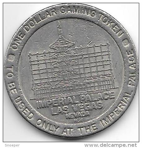Las Vegas Imperial Palace 1 Dollar Gaming Token - Casino