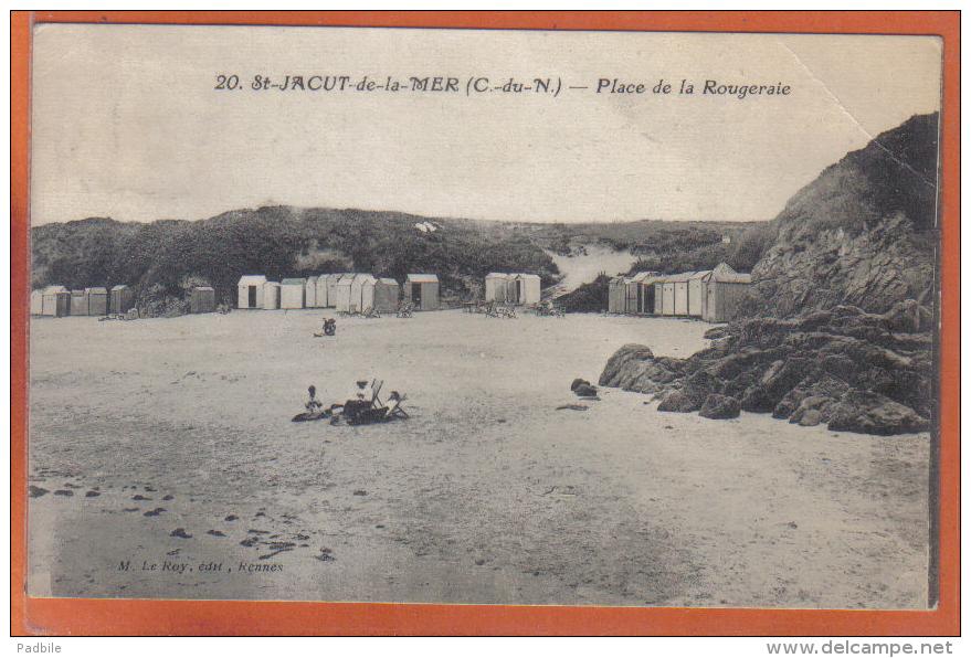 Carte Postale 22. Saint-Jacut-de-la-mer  Plage De La Rougeraie  Trés Beau Plan - Saint-Jacut-de-la-Mer