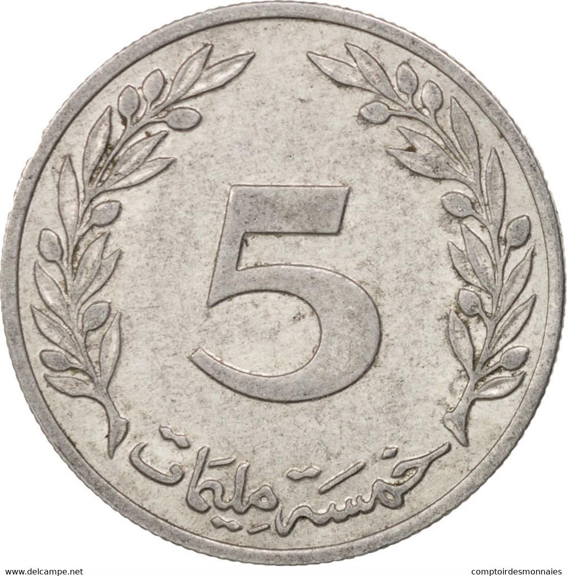 Tunisie, 5 Millim, 1960, TTB, Aluminum, KM:282 - Tunisie