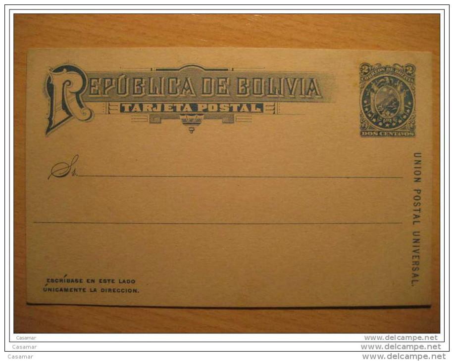 2 Centavos UPU Postal Stationery Card Tarjeta Entero Postal Entier Postaux Eagle Bolivia - Bolivia