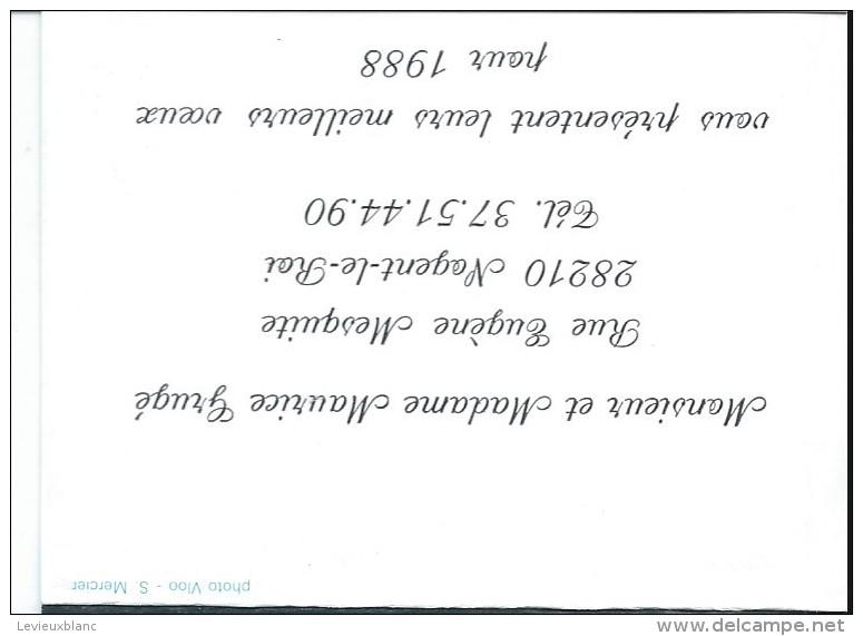 Calendrier De Poche/Carte De Voeux / GRUGE/Nogent Le Roi/1988       CAL268 - Calendriers