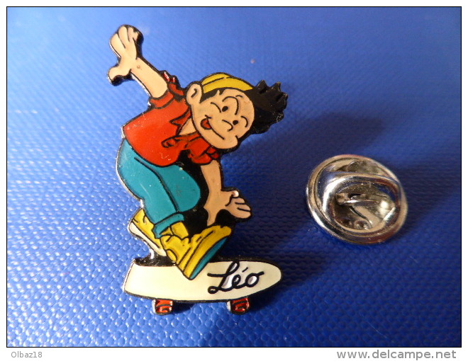 Pin's Skateboard Skate Board - Léo - Dessin Animé Bd (PU49) - Skateboard
