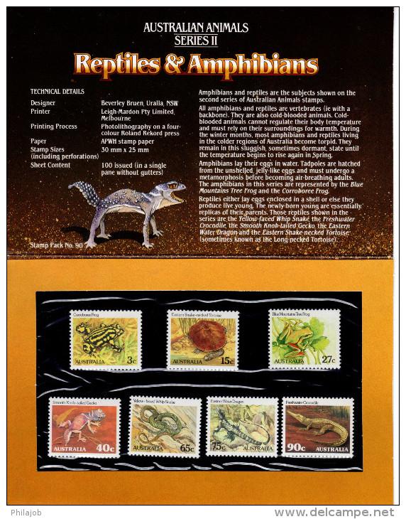 """AUSTRALIE : Pack De Présentation """" REPTILES ET AMPHIBIENS """". Neuf ** MNH. Parfait état. - Reptiles & Batraciens"""