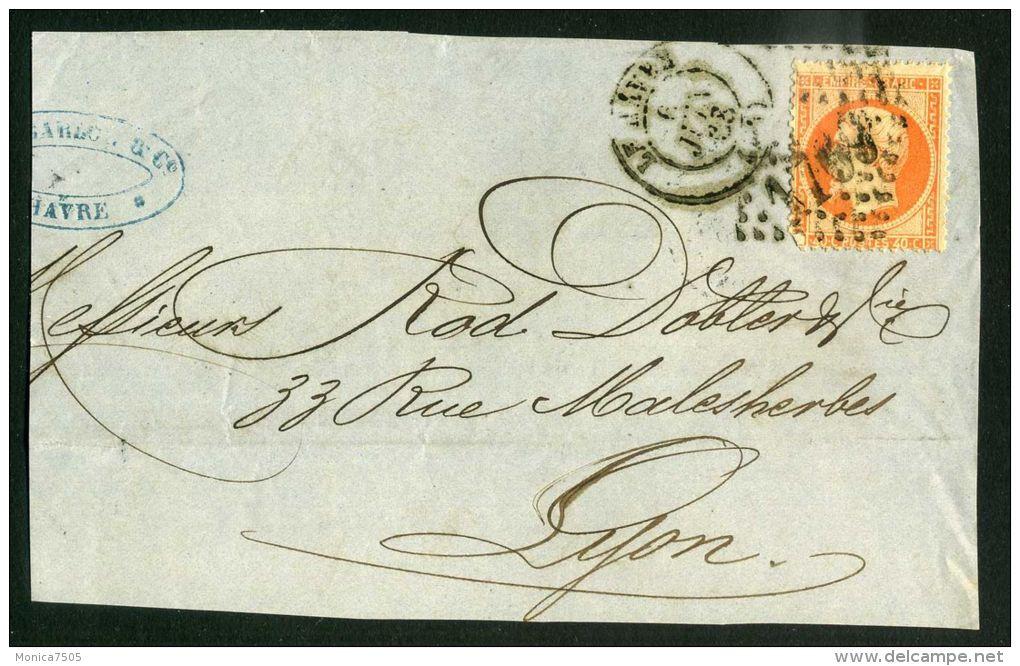 FRANCE :  BEAUX CACHET  DIVERS  SUR  FRAGEMENT , DU   6  JUIN  1868 ?  , A  VOIR . - 1849-1876: Période Classique
