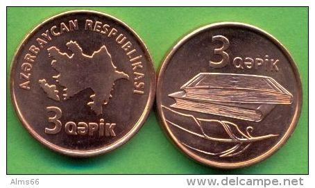 Azerbaijan 2006 (ND) 3 Qapik KM#40 UNC / BU !!! - Azerbaïdjan