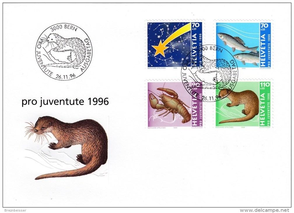 Schweiz MiNr. 1597 / 1600 Pro Juventute Illustrierter Ersttagsbrief / FDC - FDC