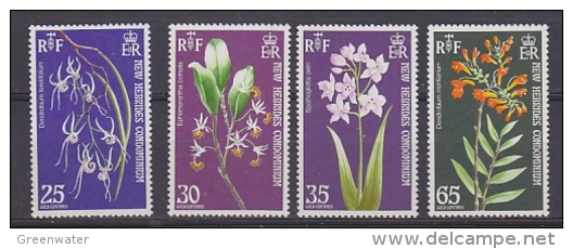 New Hebrides Condominium 1973 Flowers 4v ** Mnh (27525) - Engelse Legende