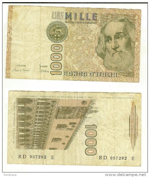 1.000 Lire Marco Polo 1985 - Lettera D - [ 2] 1946-… : République