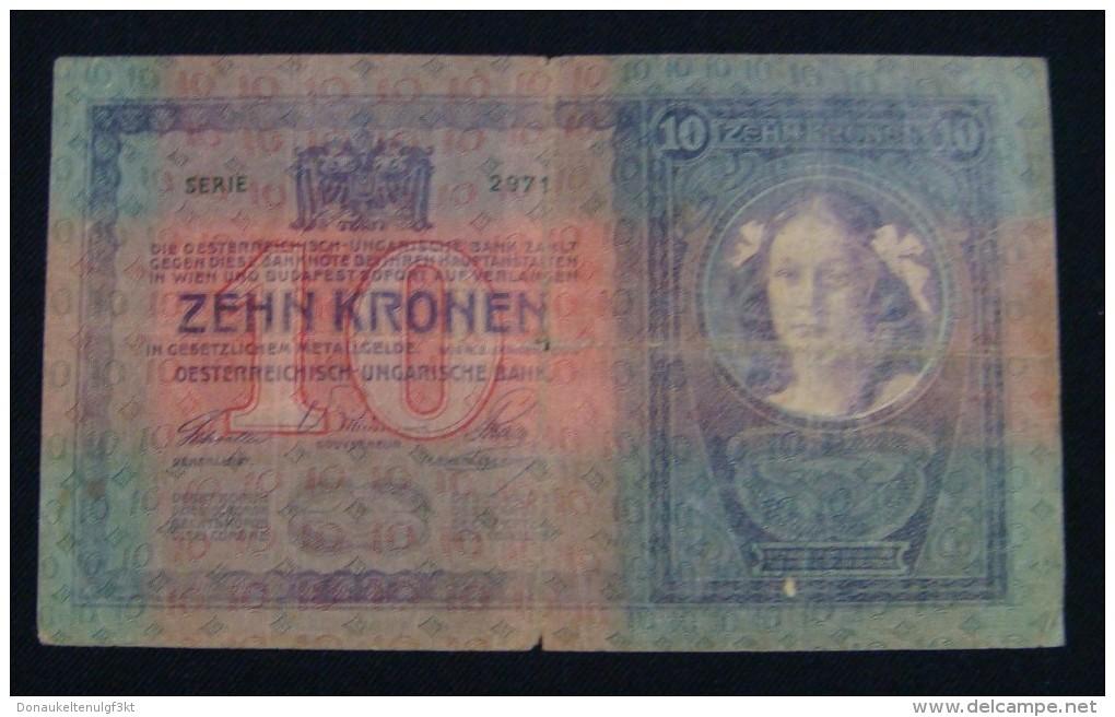 AUSTRIA 10 KRONEN 1904 PICK-9. VF., CRISP PAPER, SERIAL# 542178 2971 - Oesterreich