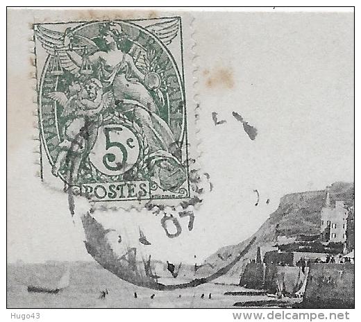 ARROMANCHES  EN 1907 - N° 5 - VUE SUR LA PLAGE - CPA VOYAGEE - Arromanches