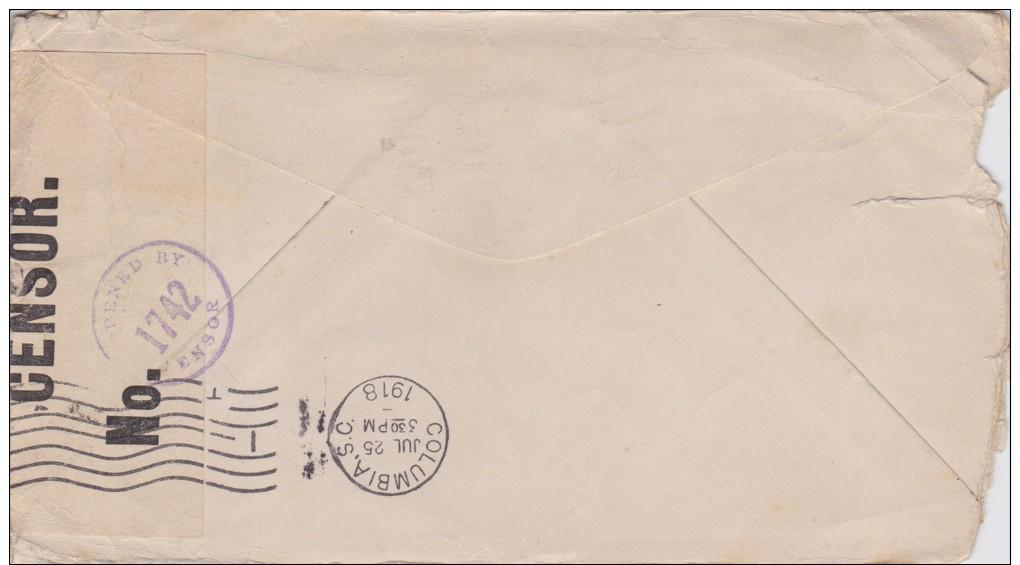 Cuba; Censored Cover To USA 1918 - Cuba