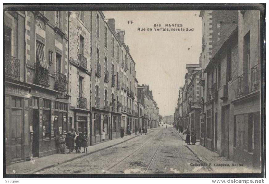 CPA - NANTES - RUE DE VERTAIS Vers Le SUD - Edition F.Chapeau - Nantes