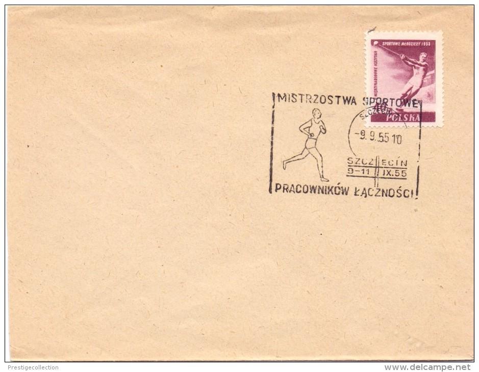 POLAND 1955 MARATON MISTRZOWA SPORTOWE COVER     (M160113) - Francobolli