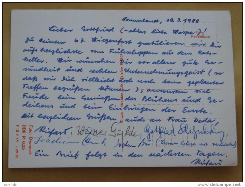 AK 614 Bautzen – Ratskeller – 5 Abbildungen U.a. Gesellschaftszimmer, Ratscafe Und Goldbroiler – 1988 Beschrieben - Bautzen