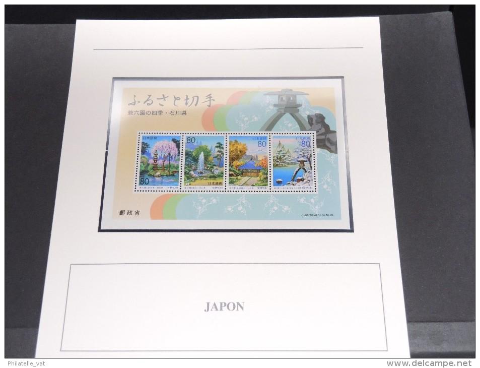 JAPON - Bloc Luxe Avec Texte Explicatif - Belle Qualité - À Voir -  N° 11642 - Blocks & Sheetlets
