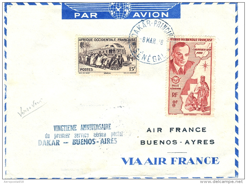 Air France AOF Lettre Par Avion 1948 - Sonstige