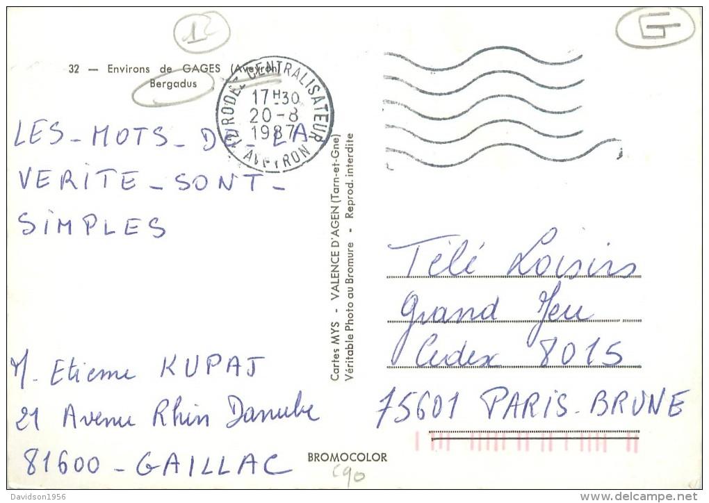 Belle Cpsm -       Environs De Gages -  Bergadus         AD1159 - France