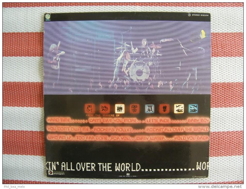 MUSIQUE - VINYL 33 TOURS - STATUS QUO - ROCKIN' ALL OVER THE WORLD - LP - 1977 - PHONOGRAM/ VERTIGO 9102 014 - EXCELLENT - Vinyles